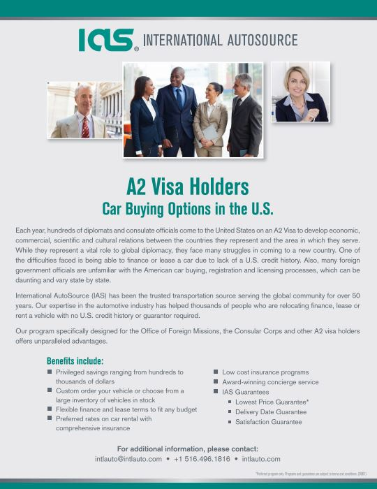 A2 Visa Holder Flyer