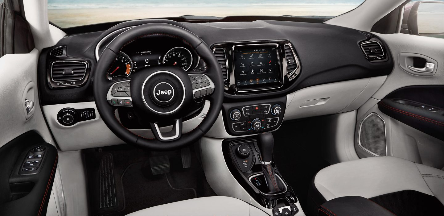 The 2018 Jeep® Compass interior rethinks and redefines the cabin experience. Quality materials, detailed craftsmanship and state-of-the-art, high-tech features blur the lines between sophistication and capability.