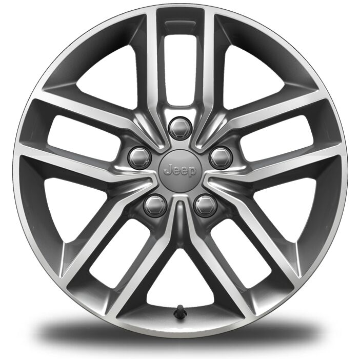 18-Inch x 8-Inch Gray Aluminum Wheels