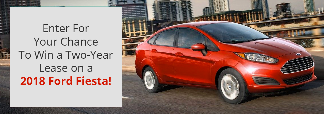 Enter To Win A 2-Year Lease On A 2018 Ford Fiesta