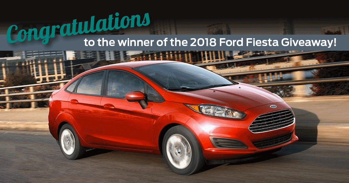 Ford Fiesta giveaway winner