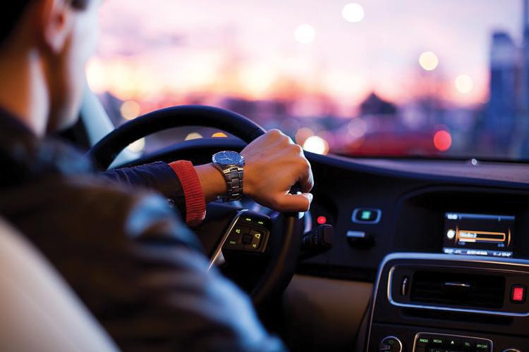 Driving at night at school
